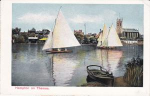 ENGLAND, 1900-1910's; Hampton On Thames, Sail Boats