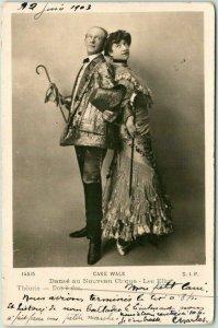 Vintage 1903 French RPPC Real Photo Postcard CAKE WALK - Danse au Nouveau Cirqu