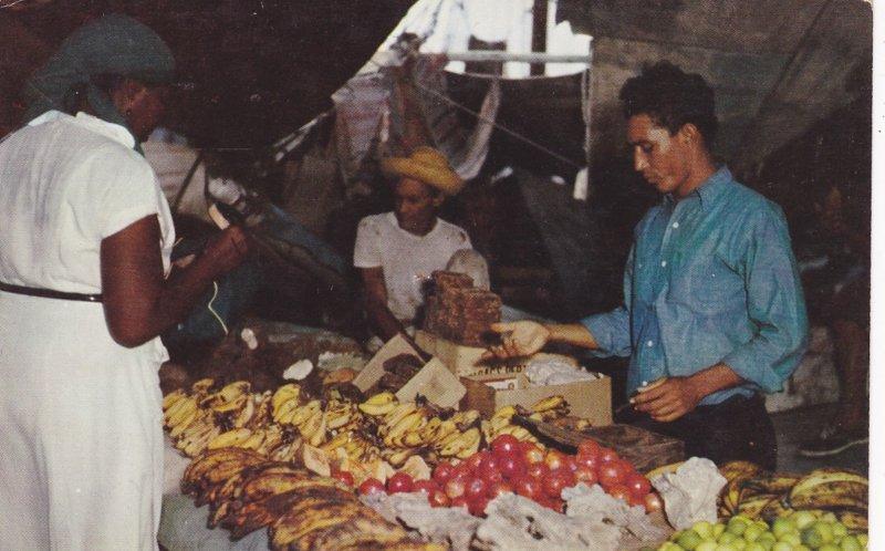 CURACAO; Floating Market, Dozens of schooners sail regularly from Venezuela, ...