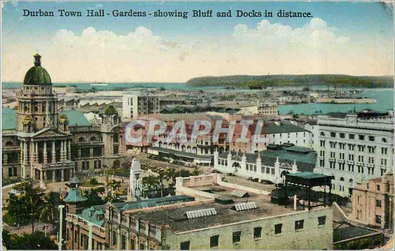 CPA Durban Town Hall Showing Bluff and Docks in distance
