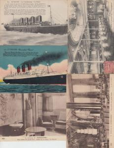 PAQUEBOTS SHIPPING Steamers SS SHIPS 278 Cartes Postales 1900-1940