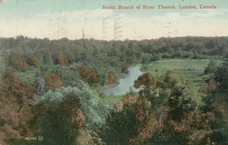 LONDON , Ontario , Canada , 1915 ; North Branch of River Thames