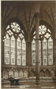 Postcard UK England Westminster, Middlesex chapter house abbey