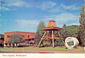 PORT ANGELES WASHINGTON~LIBERTY BELL-LIONS CLUB-HONORING ARMED FORCES POSTCARD