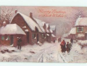 Divided-Back GREAT SCENE Scarce Foreign Postcard AA6651