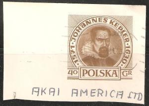Poland Postal Card Used Corner Johannes Kepler