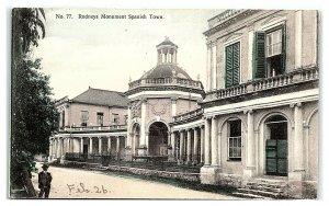 Rodneys Monument, Spanish Town, Jamaica Postcard *7C16