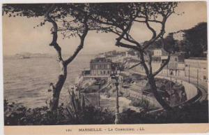 Scenic Waterfront View of La Corniche Palace Hotel, Marseilles, France