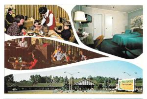 NY Albany Tom Sawyer Motor Inn Motel Multiview Postcard