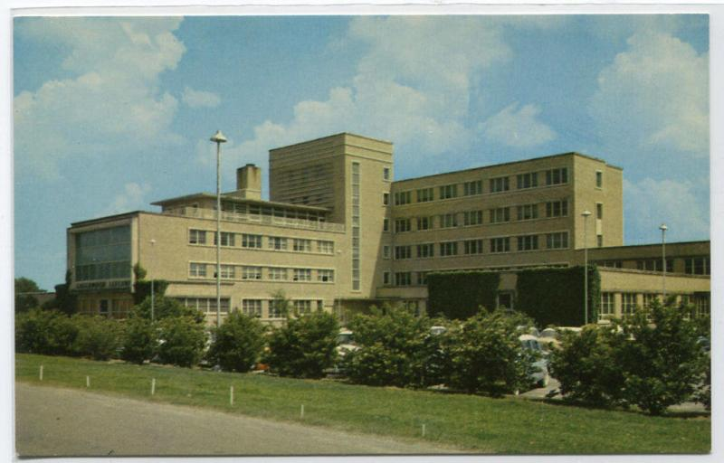 Greenwod Leflore Hospital Greenwood Mississippi MS 1960s postcard