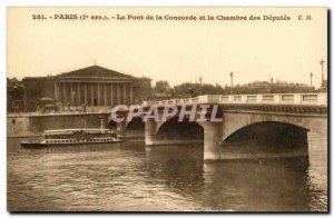 Paris Postcard Old Bridge harmony and chamber of deputies