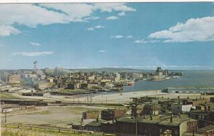 Panoramic View of the City of Saint John and the Harbour from the Lookout on ...