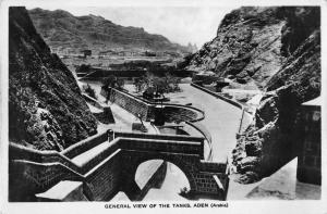 Aden Yemen Water Tanks Real Photo Antique Postcard J48172