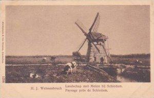 Windmill Landschap met Molen bij Schiedam Netherlands