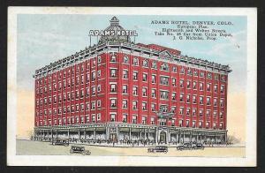 Adams Hotel Denver Colorado Unused c1920s