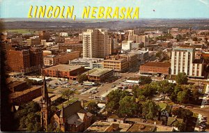 Nebraska Lincoln View From Top Of State Capitol 1947