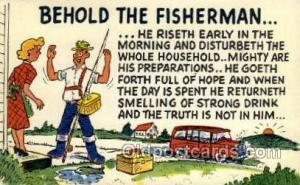 Fishing Old Vintage Antique Postcard Post Card