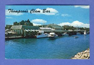 Wychmere Harbor, Mass/MA Postcard,Thompson Clam Bar/Cape Cod
