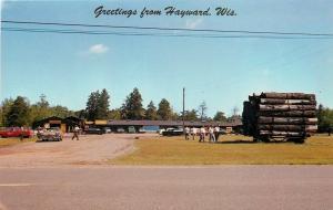 Hayward WI~Hue Wagonful of Logs @ North Wisconsin Logging Camp~1960s