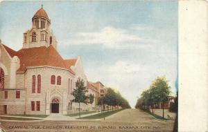 Kansas City MO~Central Methodist Episcopal Church Eleventh St & Paseo~1908 PC