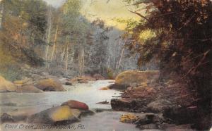 Johnstown Pennsylvania~Paint Creek~Autumn Trees on Hillside Banks~Boulders~1908