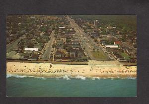 DE Aerial View Rehoboth Beach Hotels Bldg Bathers Delaware Postcard