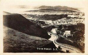 LP36 San Francisco California Postcard RPPC Twin Peaks