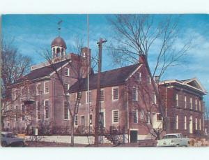 Unused Pre-1980 OLD CARS & COURT HOUSE New Castle Delaware DE n4127@
