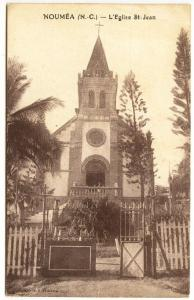 New Caledonia Noumea  L'Eglise St-Jean Church Postcard