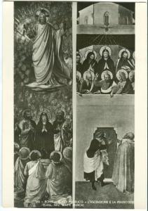 Rome, Roma, Beato Angelico, L'ASCENSIONE E LA PENTECOSTE, unused RP Postcard