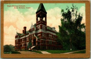 New Britain, Connecticut Postcard State Normal School w/ 1909 Cancel