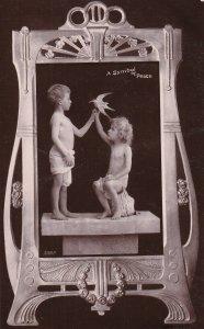 RP; A Symbol Of Peace, Kids Holding A Bird, 1910s; Davidson Bros.