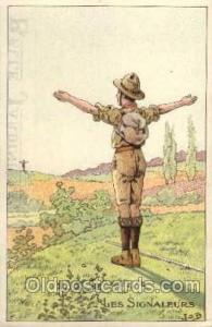 Les Signaleurs, Boy & Girl Scout, Scouting, Les Signaleurs Unused small wear ...