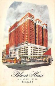 Chicago Illinois~Palmer House (Hilton Hotel)~Info & Note on Back~1959 Postcard
