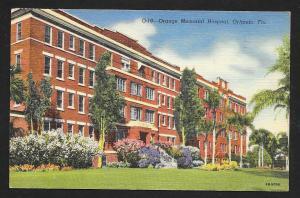Orange Memorial Hospital Outside View Orlando FL Used c1949