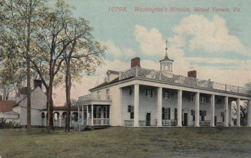 MOUNT VERNON, Virginia, 1900-10s; Washington's Mansion