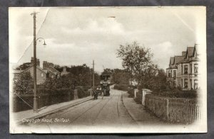 dc800 - BELFAST N Ireland c1907-10 Cregagh Road. Tram. Postcard