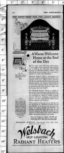 1924 Welsbach Radiant Heater Home Appliance Vintage Print Ad 3996