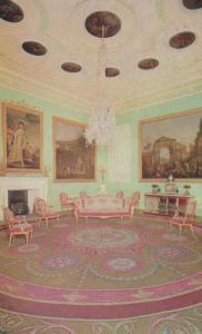 The Music Room Harewood House 1960s Postcard