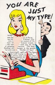You Are Just My Type Typist Comic Humour Dating Secretary Postcard