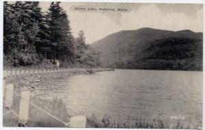 Mirror Lake near Rockland, Knox County, Maine