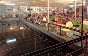 Lewisville Texas Fishing Barge Interior Vintage Postcard K58305