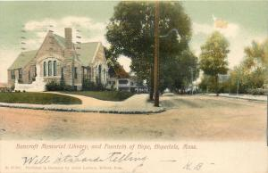 Hopedale Massachusetts~Bancroft Memorial Library and Fountain of Hope~1906