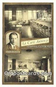 La Café Arnold, Restaurant, New York City, NYC Postcard Post Card USA Old Vi...