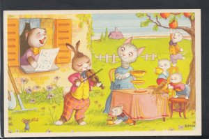 Childrens Postcard - Cute Animals in The Garden - Artist Simon  HP225