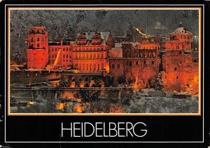 Heidelberg The Castle from the North at Night Schloss Winter