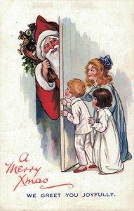 A Merry Xmas We Greet you Joyfully - Santa Claus Christmas 04.08
