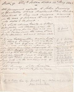 1826 Victorian Legal Debt Solicitors Antique London Letter