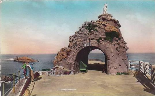 France Biarritz Le Rocher de la Vierge 1949 Photo