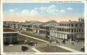 Front Street - Panama c1920 Postcard
